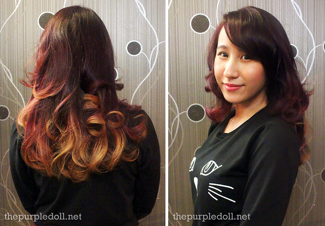 The Purple Doll Hair Makeover After Shot at Louis Phillip Kee Premier Salon