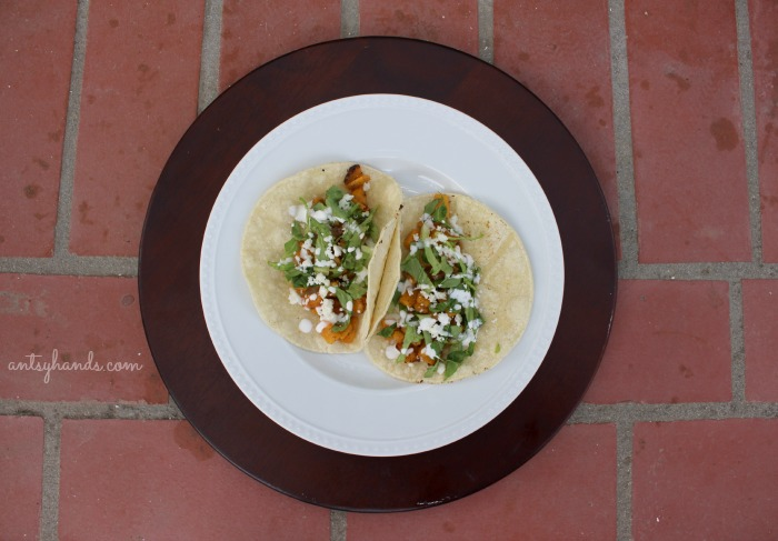 Delicious Butternut Squash Tacos || AntsyHands.com