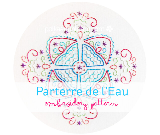 Parterre de l'Eau embroidery pattern