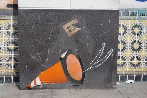 Orange Cone as Street Art