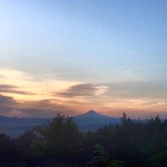 Mt. Hood on the AM Bike Commute
