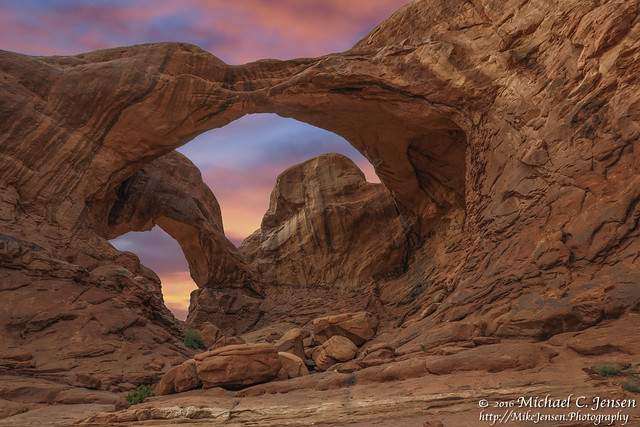 Double Arch Sunset