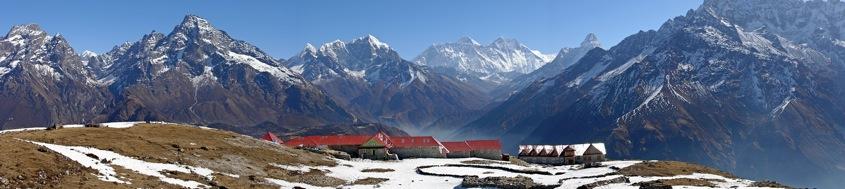 Nepal, Komfort-Trekking Everest-Gebiet. Blick von Kongde auf Mount Everest, 8848 m. Foto: Archiv Härter.