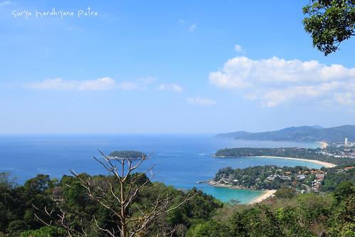 Pemandangan dari Karon View Point, Phuket
