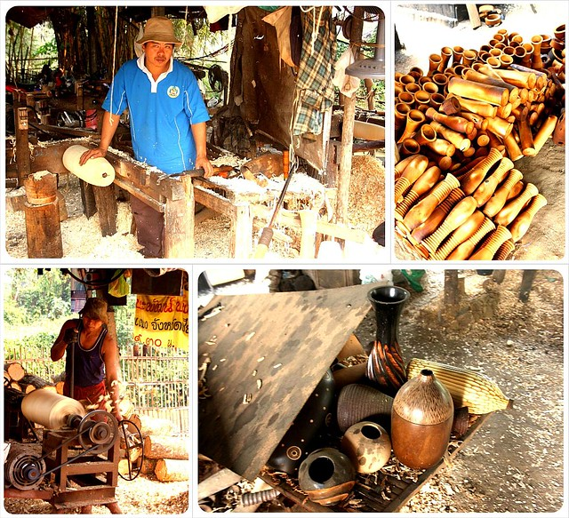 wood carving workshop in northern thailand