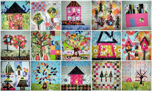 Home Sweet Home Quilt Along - Blocks 1 thru 15 - WIP