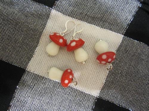Mini Mushroom Jewelry