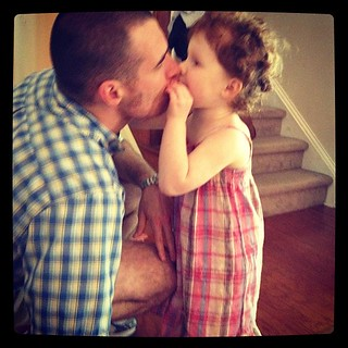 Kisses for daddy.