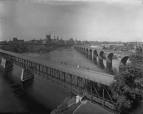 Original 10th Ave Bridge on the Downtown Minneapolis Riverfront