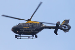 G-NWOI - 2010 build Eurocopter EC135 P2+, on patrol during the Grand National at Aintree