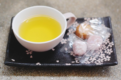 cherry blossom tea & sweets.