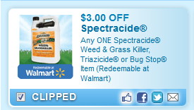 Spectracide Weed & Grass Killer, Triazicide Or Bug Stop Item (redeemable At Walmart)  Coupon