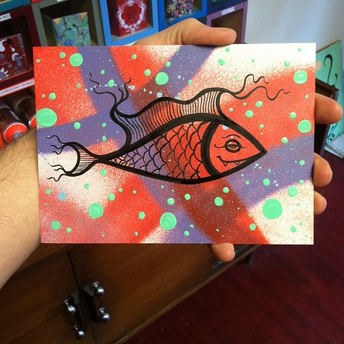 just painted a little fish for my niece's 6th b-day