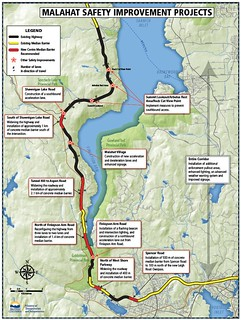Malahat Safety Improvements Map