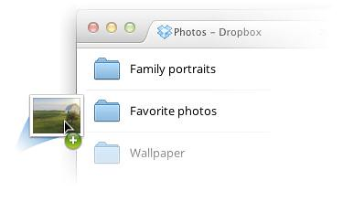 Dropbox drag and drop