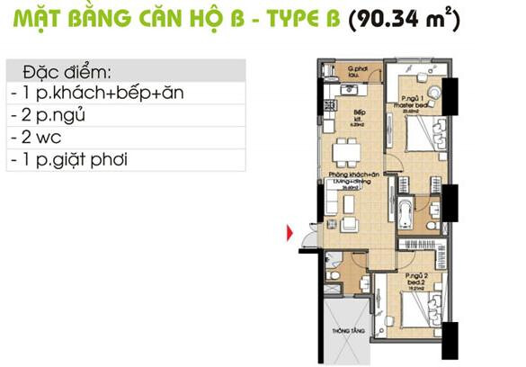 Bán căn hộ Q7, giá 1, 1tỷ/ căn 66m2