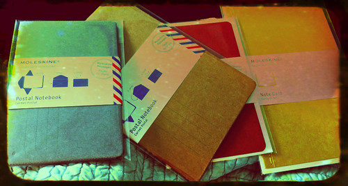 Moleskine postal notes