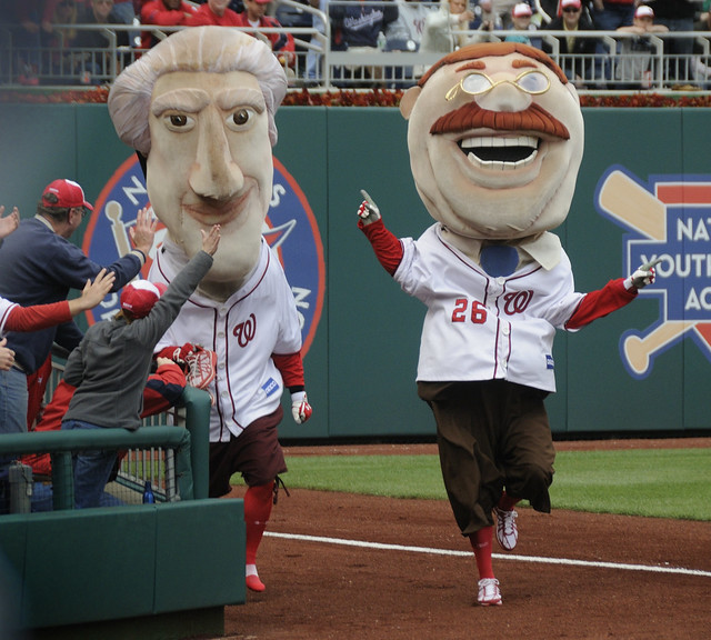 Teddy has the lead in the Washington Nationals presidents race