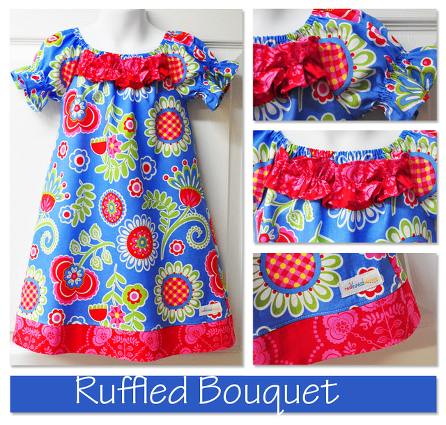 ruffled bouquet collage