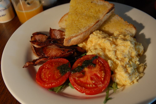 Free Range Scrambled Eggs & Bacon - best breakfast ever!