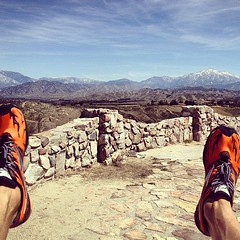 not quite as hot as Boston but hot enough to hurt in the hills. 13.5, 1500ft gain. #running #training #hotout #shoes #feetonfire #overlook #niceview #mizuno #instagram #iphoneonly #redlands #mountains #igersredlands #mondayworkout #californiaigers #socal
