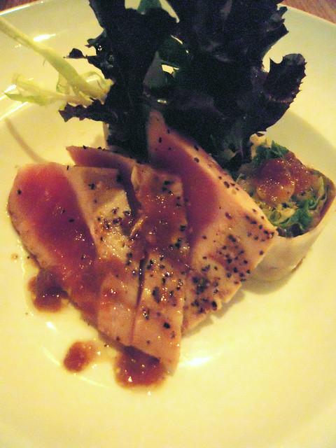 Third Course - Yellow Fin Tuna Tetaki with Karashi Su-Miso