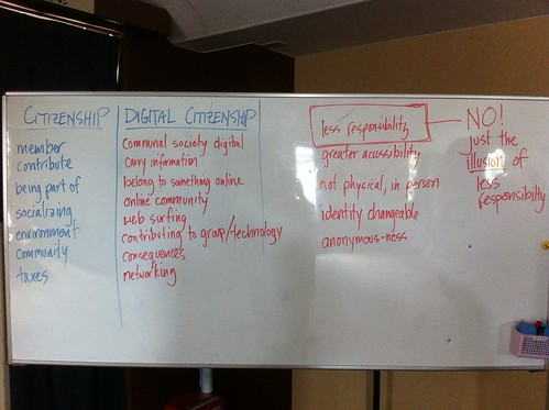 Grade 8's discussing responsibility w/ @damienpitter as part of #yis digital citizenship week http://t.co/waF6B7hy