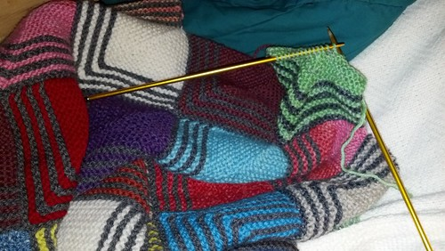 Crazy Mitered Squares Blanket by JRoKnits