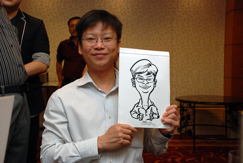 Caricature live sketching for The Bank of East Asia Staff Annual D&D - 8