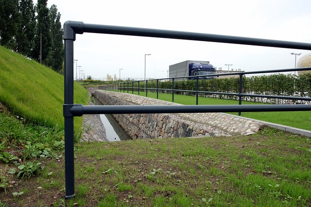 Kee Klamp Railing at Polish Soccer Stadium