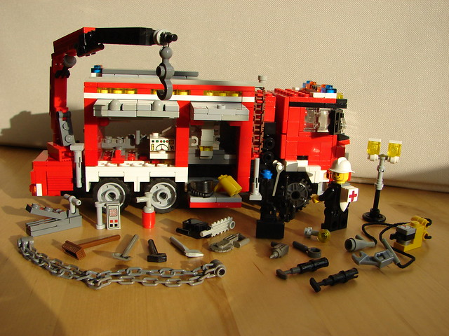 Lego Heavy Rescue Fire Truck 10 Flickr Photo Sharing