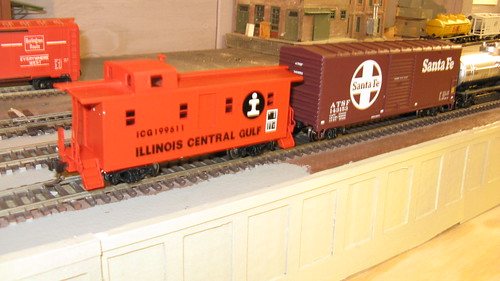 An early 1970's era Illinois Central Gulf Railroad freight train in H.O Scale. by Eddie from Chicago