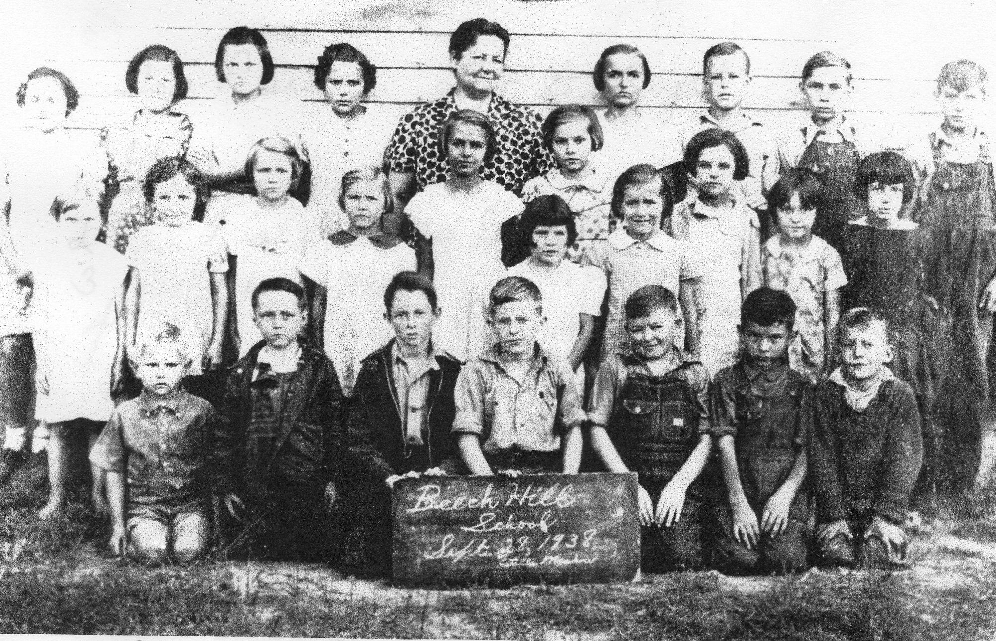 Beech Hill School, Hurricane Mills, Tennessee 1938