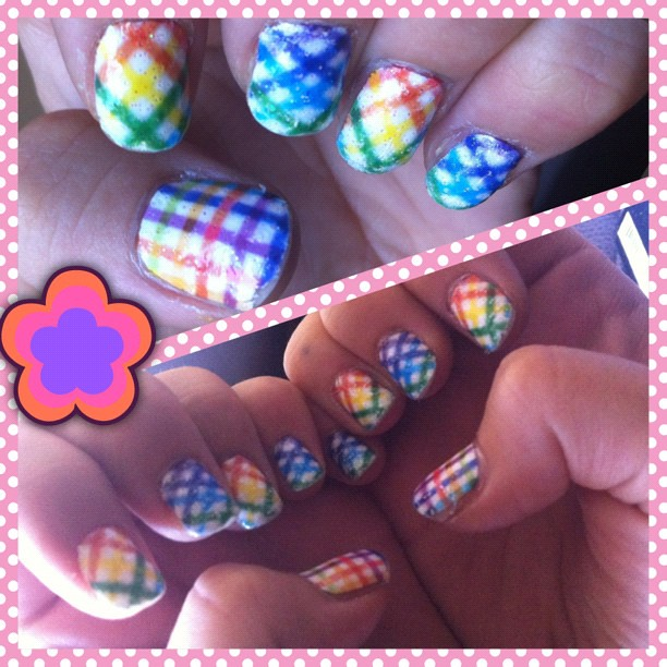 Pride Nail Designs: Vacation/Pride #nails Dollarama Design Stickers!