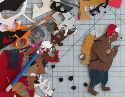 Hobo Bear Paper Cutting