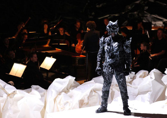 Don Giovanni at the Los Angeles Philharmonic. Costume Design: Kate and Laura Mulleavy of Rodarte, Set Design: Architect Frank Gehry. Image via Domus