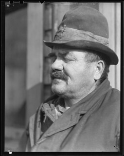 Peter Percupu, Roumanian miner, unemployed, known in Scott's Run as Ground Hog. Too old to find employment in the mines, March 1937
