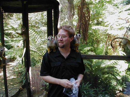 Fuzzy and Spider Monkeys, Playboy Mansion West