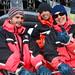 Pau, Eddy y Victoria antes del safari de cangrejo real en Laponia Noruega by el Pachinko