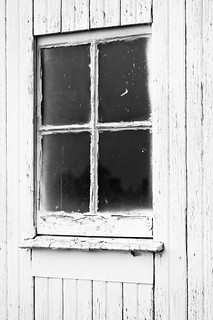 Old Window (B&W)