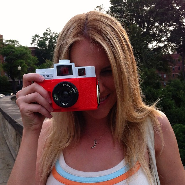 Lauren with her Holga