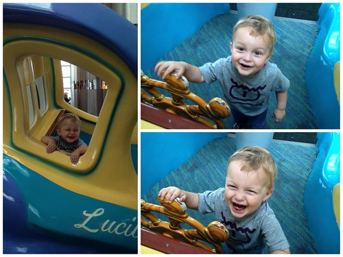 Judah having fun at the airport