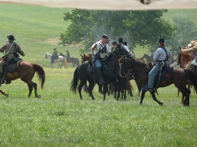 Gettysburg battle reenactment