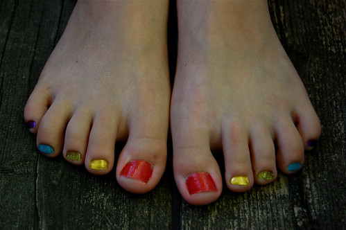 Rainbow toes!