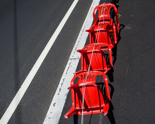 road new red summer england ma unitedstates chairs pavement empty massachusetts rope plastic sidewalk fourthofjuly asphalt independenceday parallel reserved 2012 whiteline chelmsford leadinglines emptychairsinemptyplacesgroup