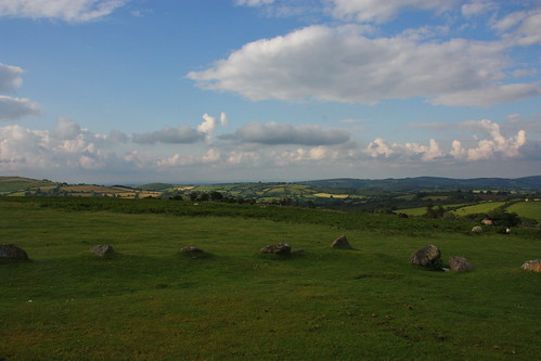 The view from the top of Dartmoor