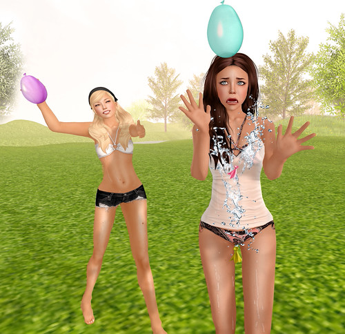 Water Balloon Fight Poses