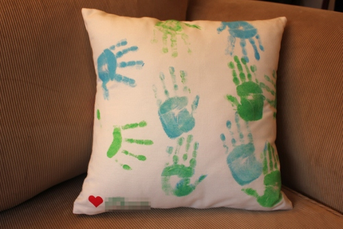 hand printed cushion - front