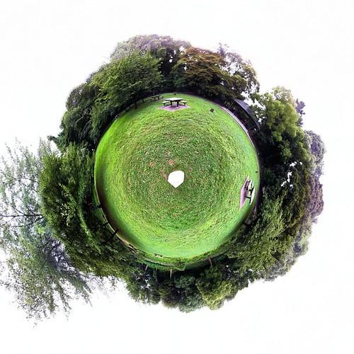清澄庭園の広場 #360PANORAMA #Smallplanet