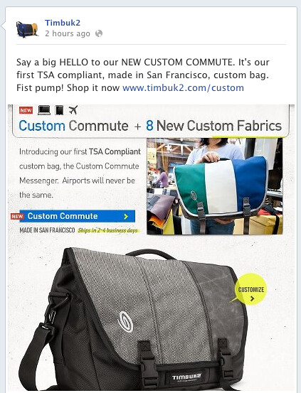 Custom Commute Launch on Facebook